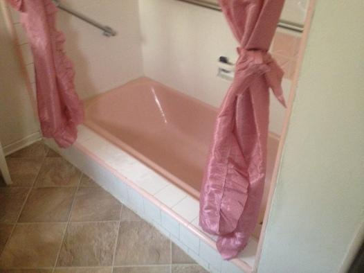 Sunken pink tub