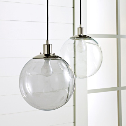 West Elm Globe Pendant - Probably my favorite but they are sold individually and I only have one junction box in the dining room. I also would prefer if it was a brass finish.