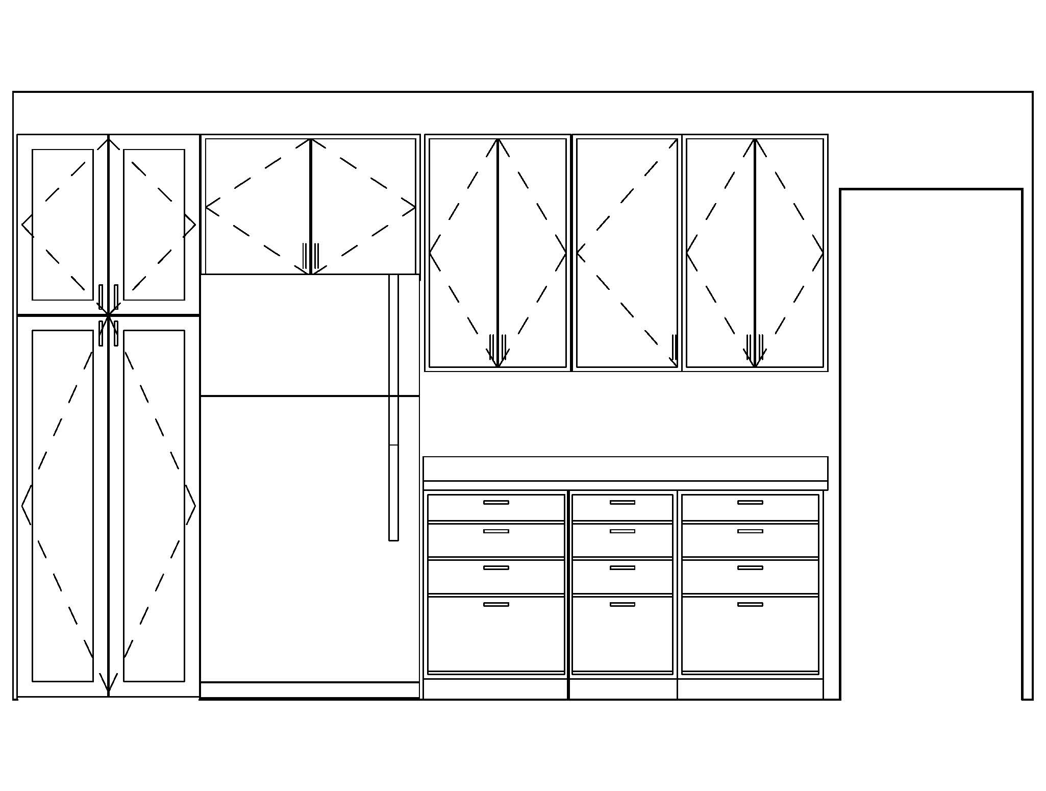 Space planning the joy of design for Kitchen cabinets elevation
