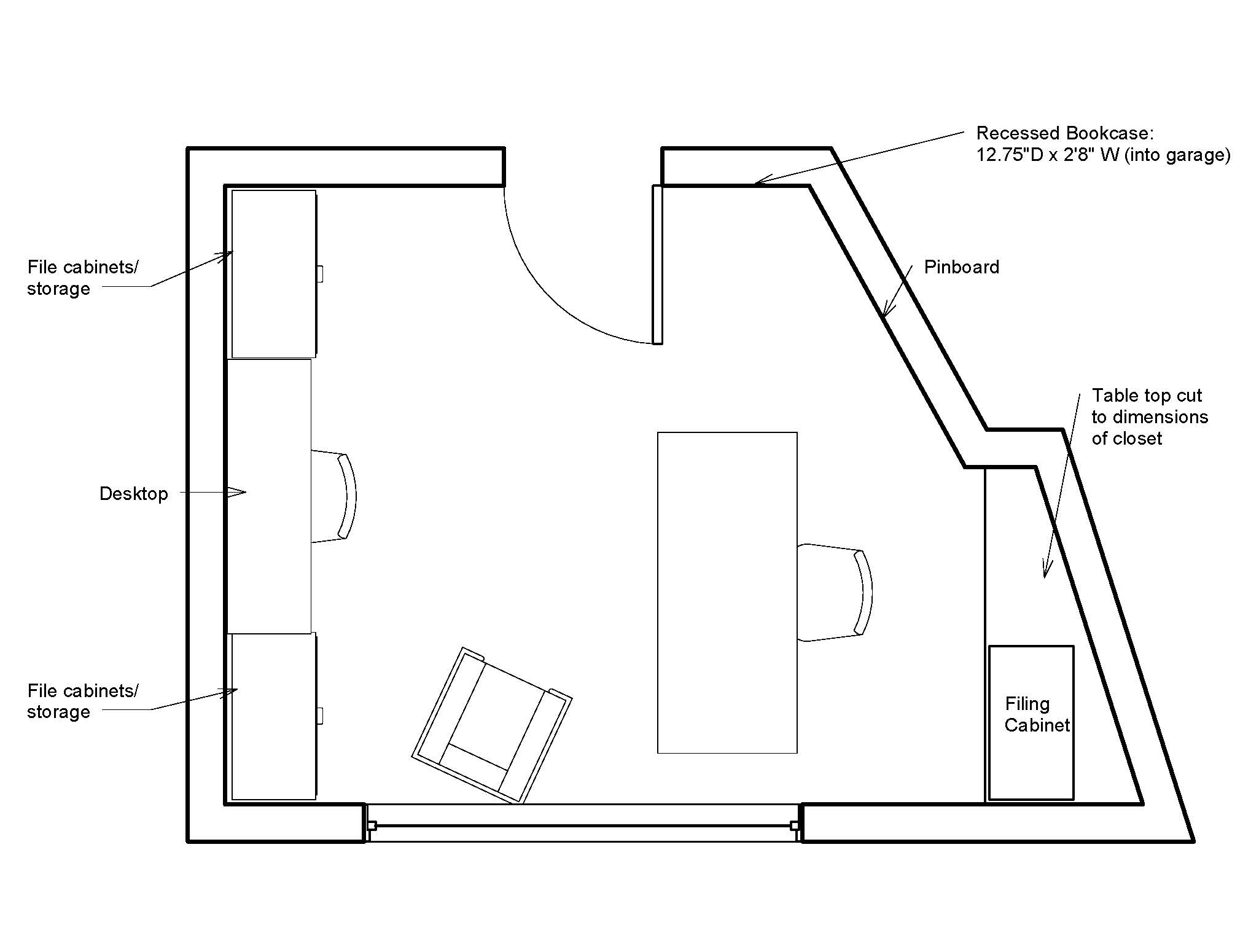 Plans to build office desk floor plans pdf plans for Office design dimensions