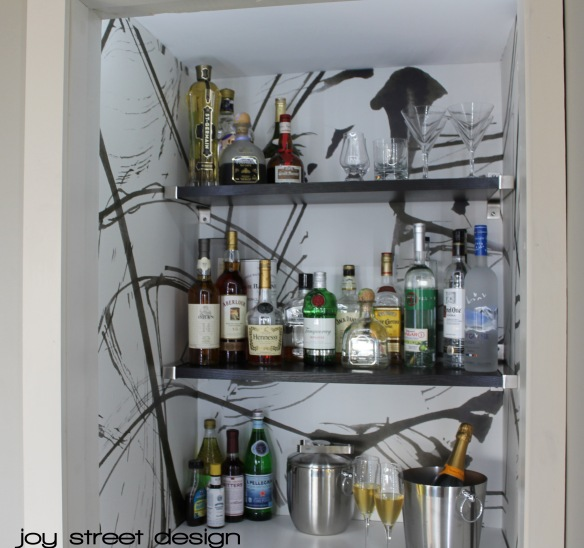 Bar Closet - Joy Street Design - www.joystreetdesign.com